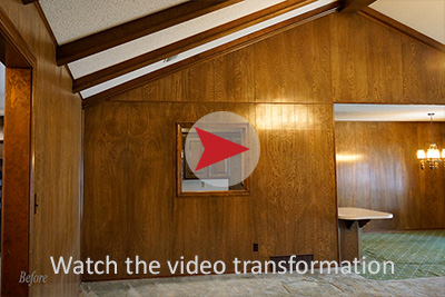 Remodel great room video